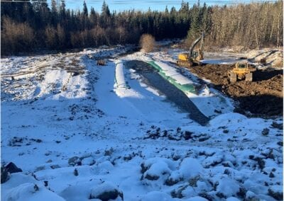 Hydra International diverts Hangingstone River for Highway construction project