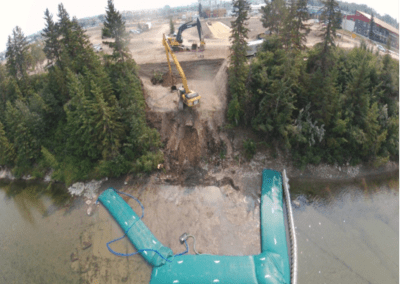 site isolation and water diversion