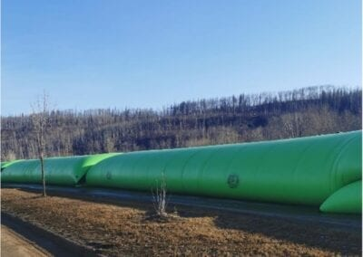 Hydra International deploys temporary flood barriers in Fort McMurray Alberta in Spring of 2021